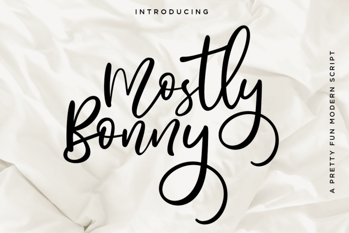 Bonny // Fun Modern Script With Alternates