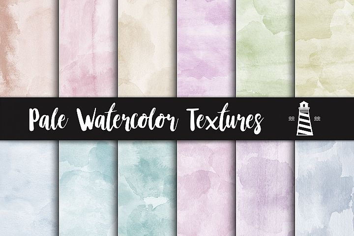 Pale Watercolor Textures, Light Colored Aquarelle Background