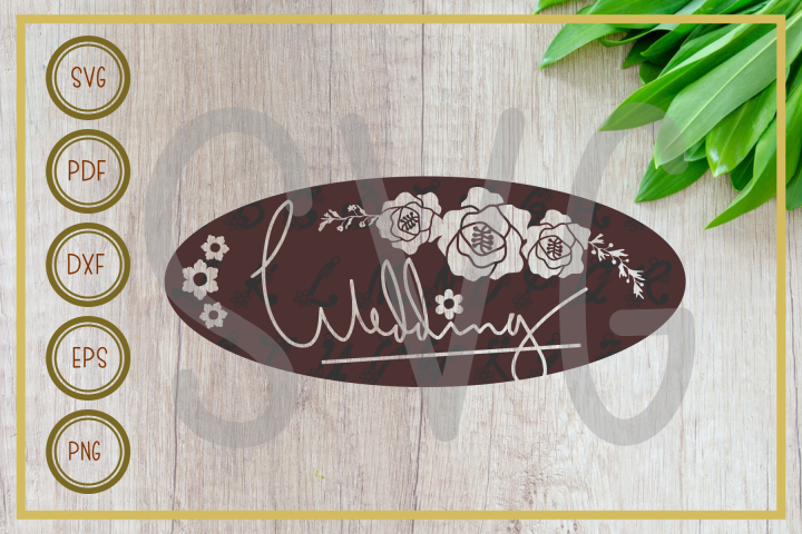 Wedding svg, wedding letter elipse, cut file, clip art