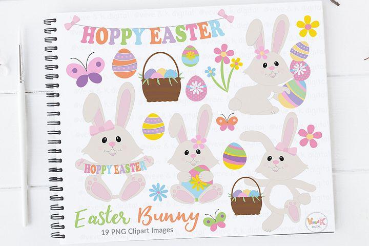 Girl Bunny, Easter Bunny, Easter Clip Art, Egg Hunt Clip Art, Easter Bunny Clip Art, Spring Flowers, Easter eggs basket, Easter egg hunt