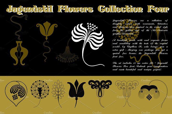Jugendstil Flowers Collection Four