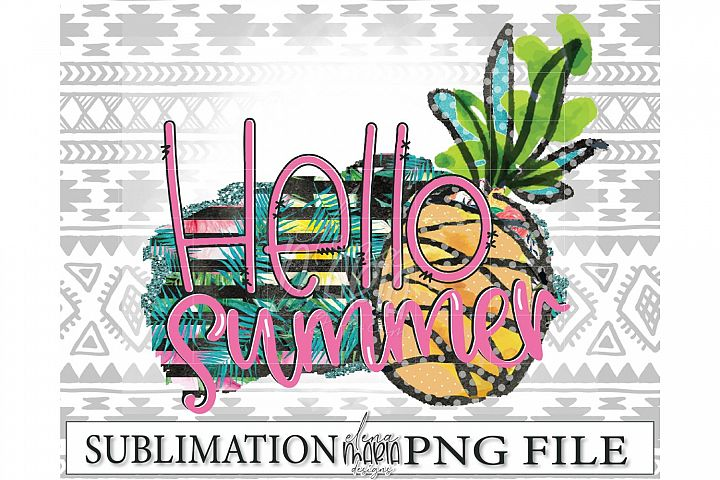 Hello Summer PNG | Beach Sublimation Transfer example 1