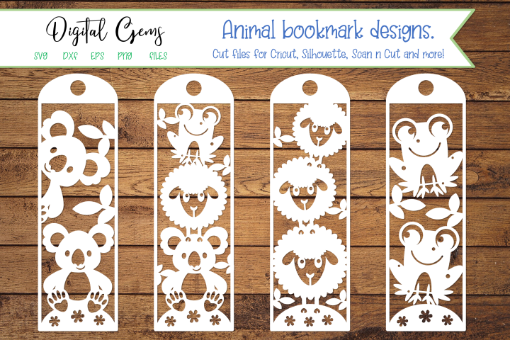 Animal bookmark paper cut designs SVG / DXF / EPS files