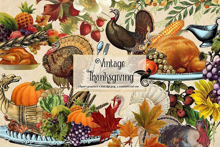 Vintage Thanksgiving Clipart