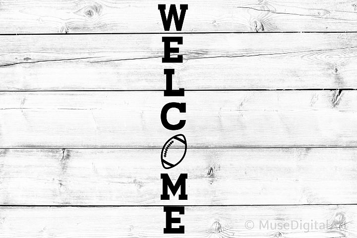Football Svg, Welcome Porch Sign Svg, Fall Svg, Football