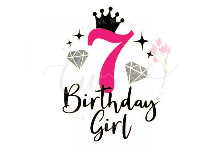 7th Birthday svg | My 7th Birthday svg | Princess Diva