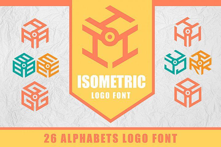 3D Isometric Logo Font