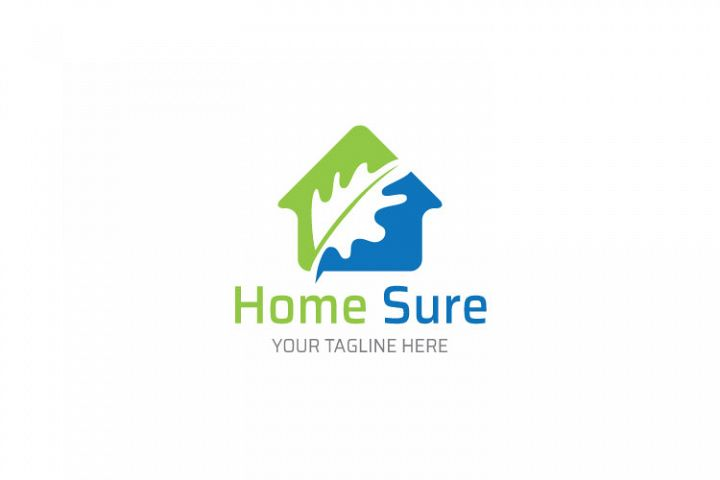 Leaf Shape in House Logo