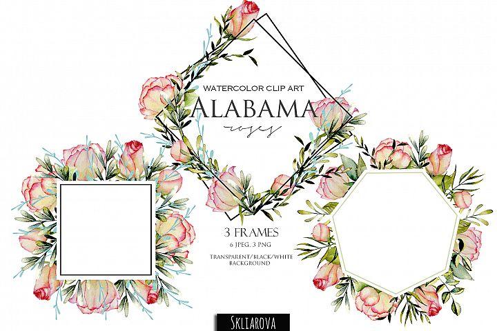 Alabama roses. 3 Frames.