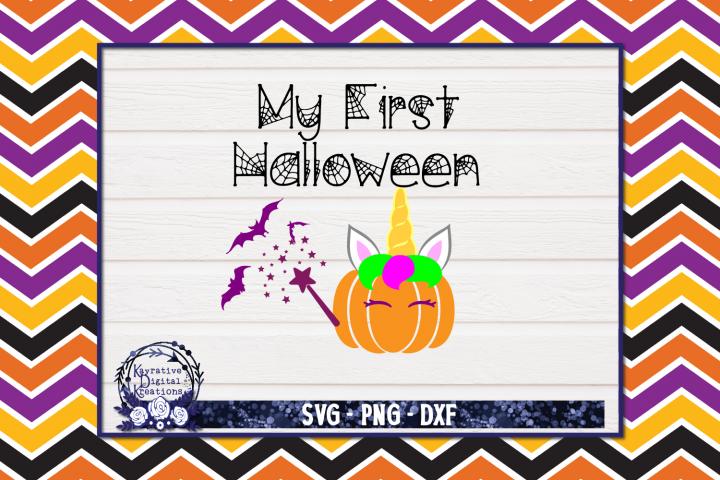 My First Halloween SVG - Pumpkins - Pumpkin Unicorn Fairy