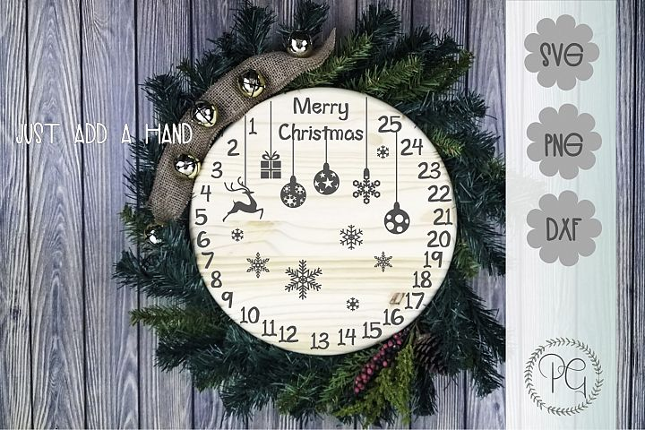 Christmas Countdown SVG PNG JPG DXF