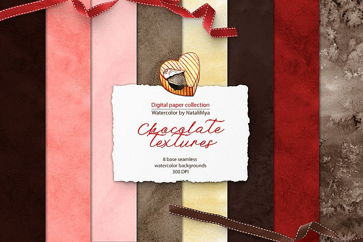 Watercolor Chocolate digital paper
