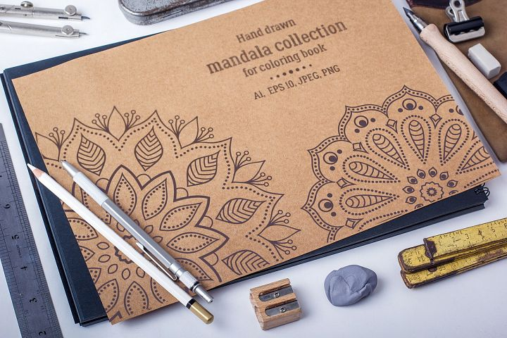 Mandala collection for coloring book