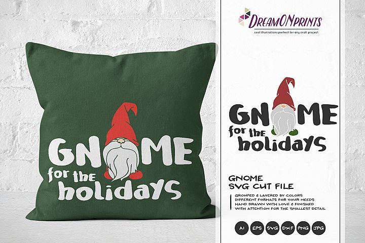Gnome for the Holidays | Christmas Gnomes SVG