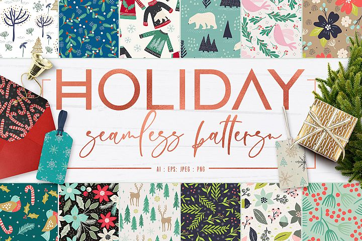Holiday Seamless Patterns