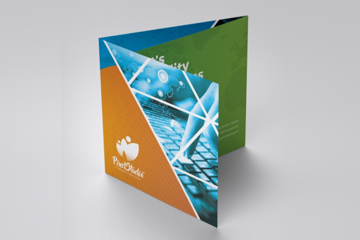 Business Square Trifold Brochure.