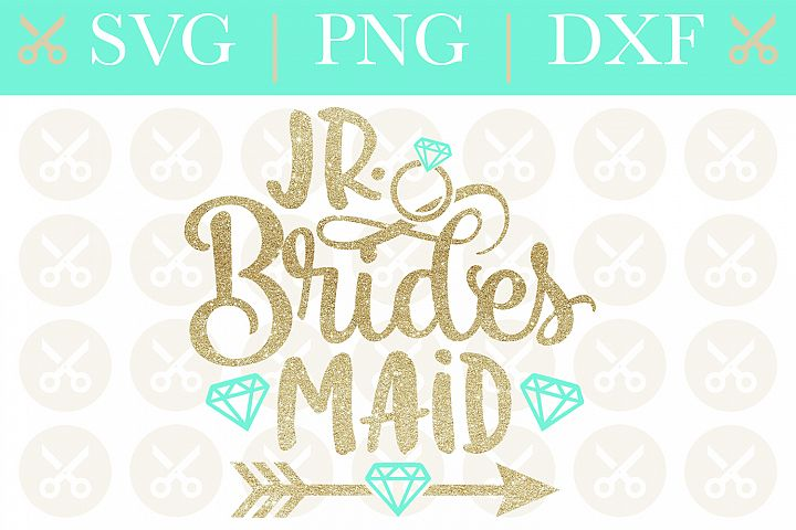 Junior Bridesmaid Svg Wedding Svg Jr. Bridesmaid Svg