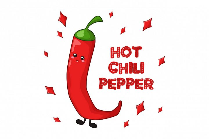 Hot chili pepper - kawaii