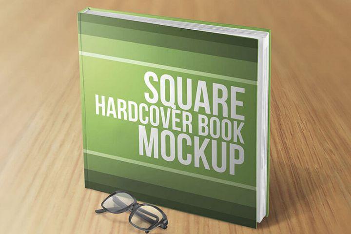Square Hardcover Book Mockups