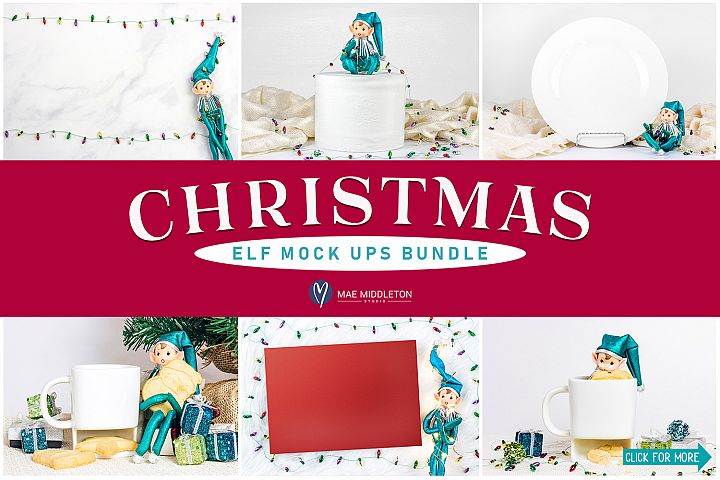 Christmas Elf Mock ups Bundle