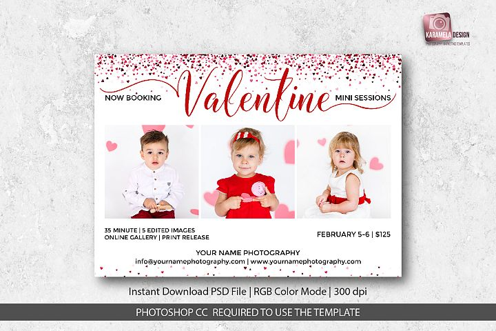 Valentine Mini Sessions Template