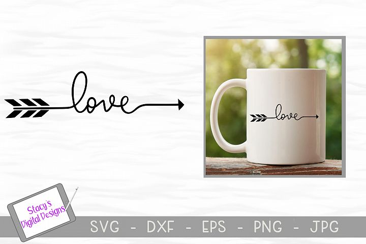 Love arrow SVG - handlettered love svg file