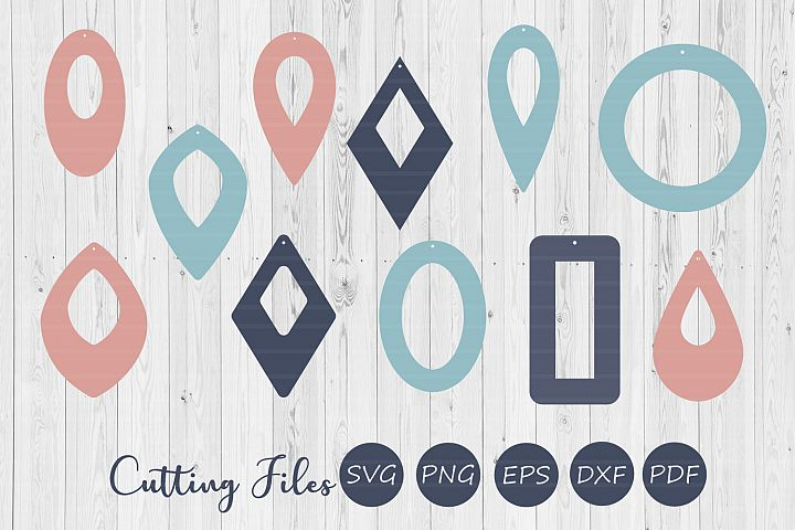 11 Hollow earrings| SVG cutting files |Commercial use |