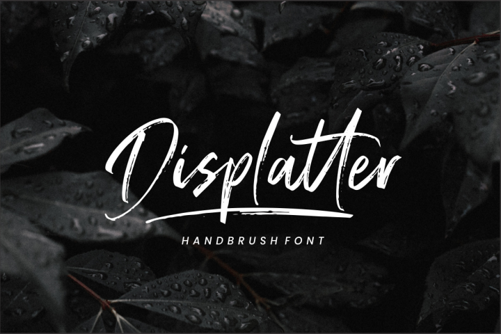 Displatter - Handbrush Font