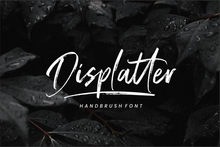 Displatter - Handbrush Font