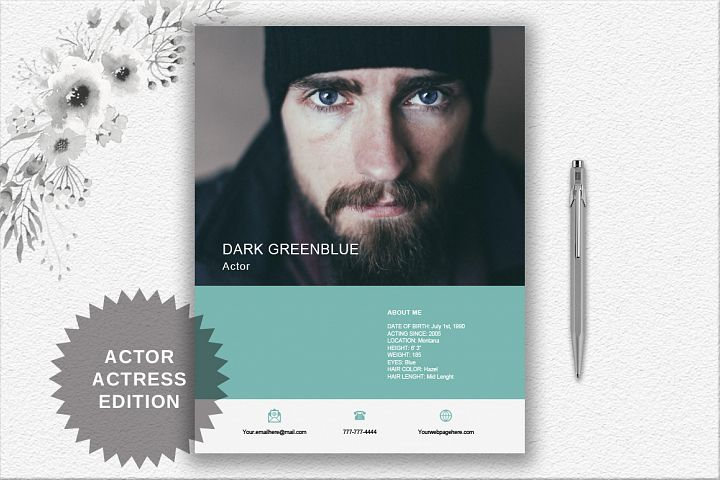 Modern Resume Template | Actor/Actress