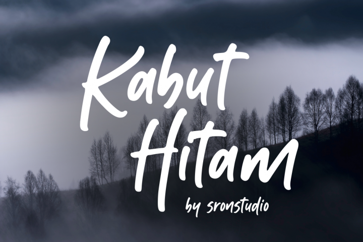 Kabut Hitam - Handwritten Font