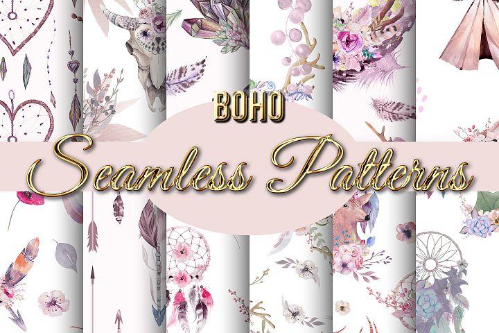Boho Seamless Backgrounds
