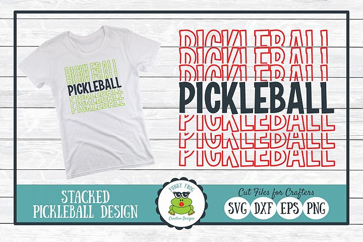 Stacked Pickleball SVG Cut File for Crafters