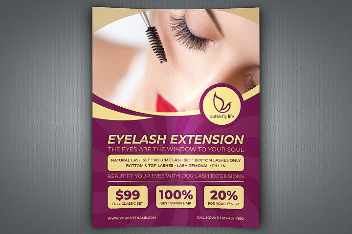Eyelash Extension Flyer Template