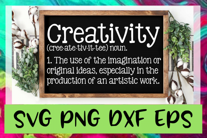 Creativity Definition SVG PNG DXF & EPS Design Files