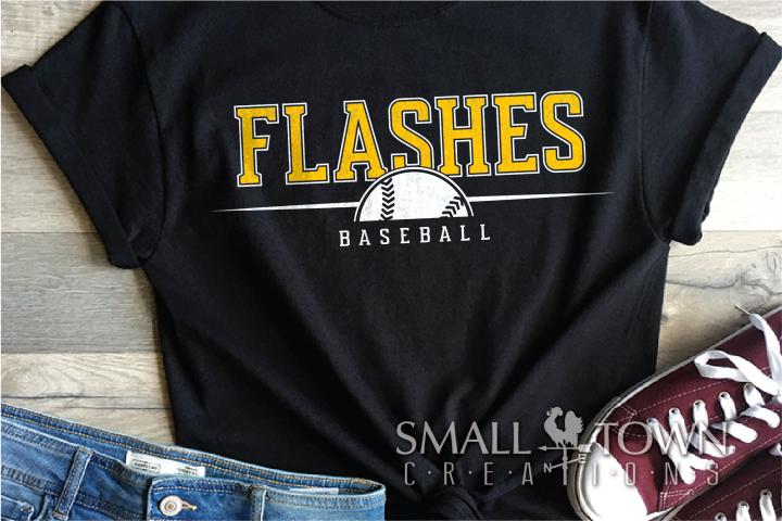 Flashes Baseball, Sport Ball, Team, PRINT, CUT & DESIGN