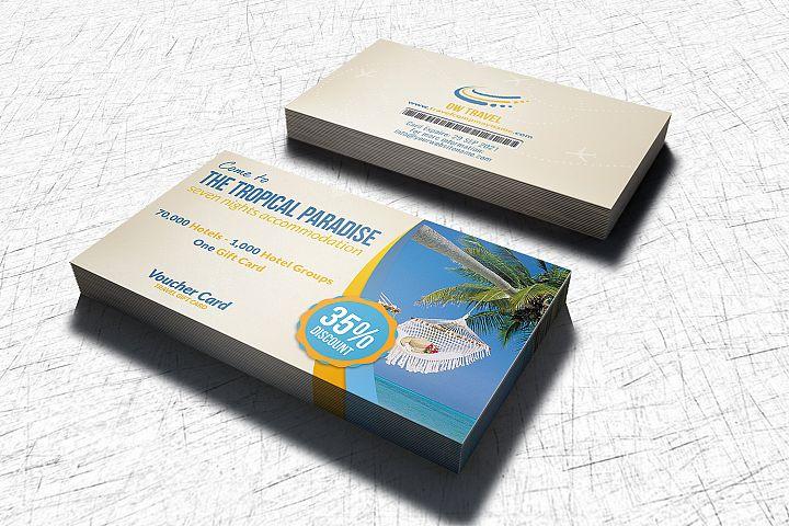 Travel Gift Voucher Card Template
