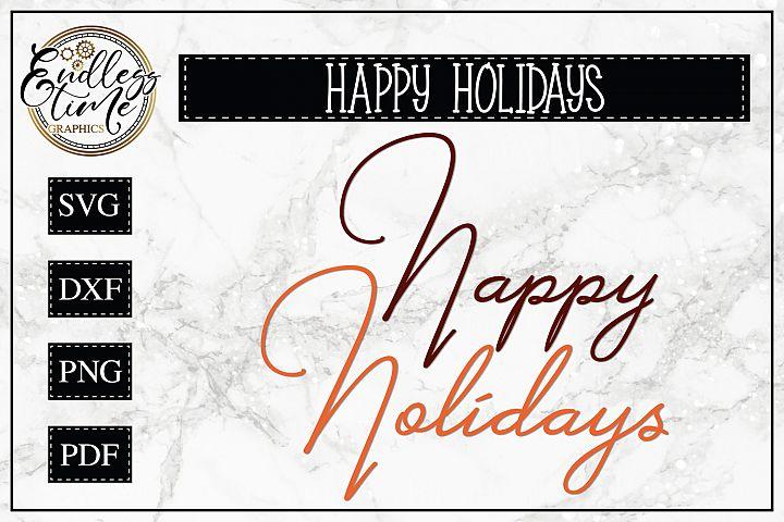 Happy Holidays SVG - Around the World Series