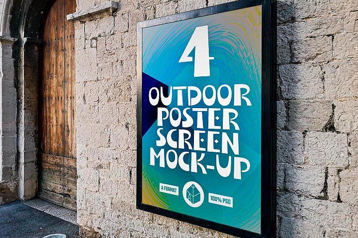Outdoor Poster Screen Mock-Ups
