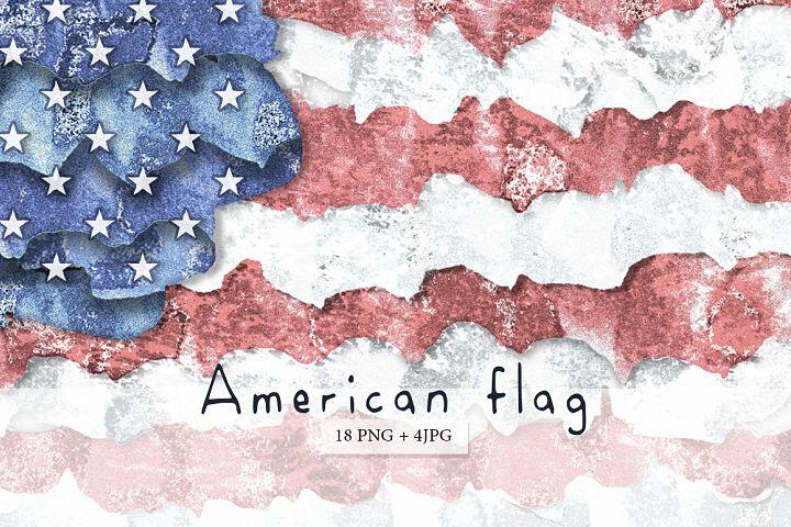 American flag. USA.