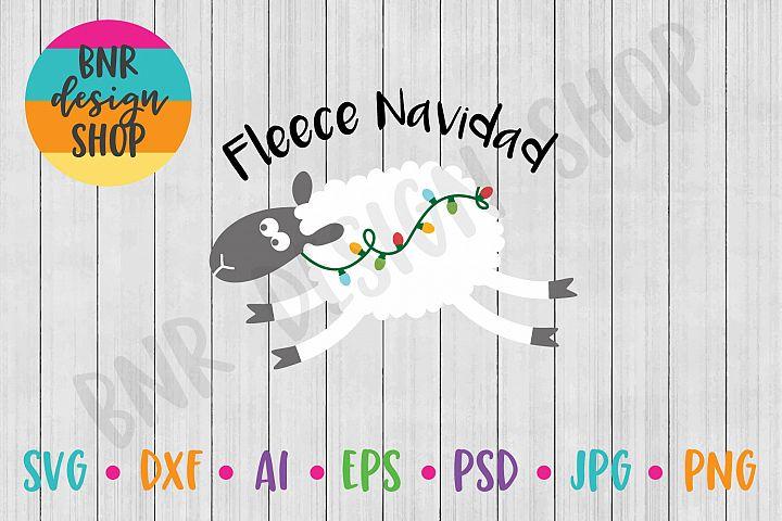 Christmas SVG, Fleece Navidad SVG, SVG Files, DXF Files