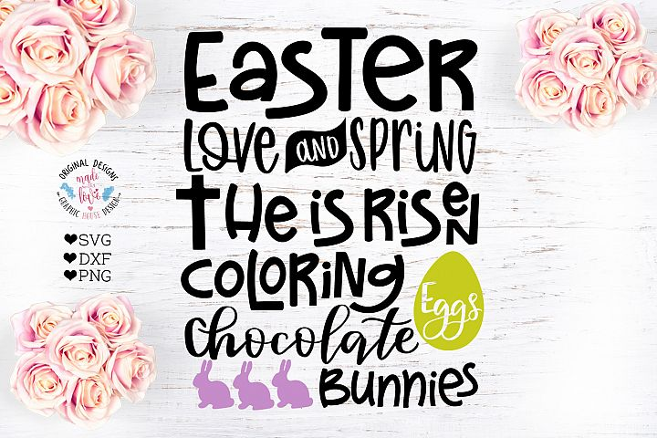 Easter Subway Art Cut File in SVG, DXF and PNG