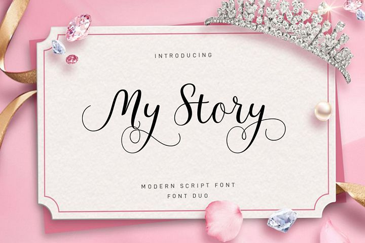 My Story Script Font Duo