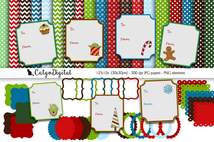 Digital Christmas Scrapbooking Pack