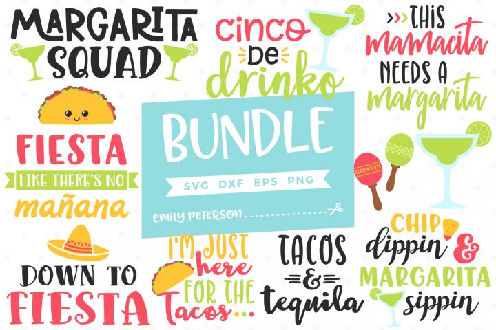 Cinco de Mayo Bundle 11 Designs SVG DXF EPS PNG