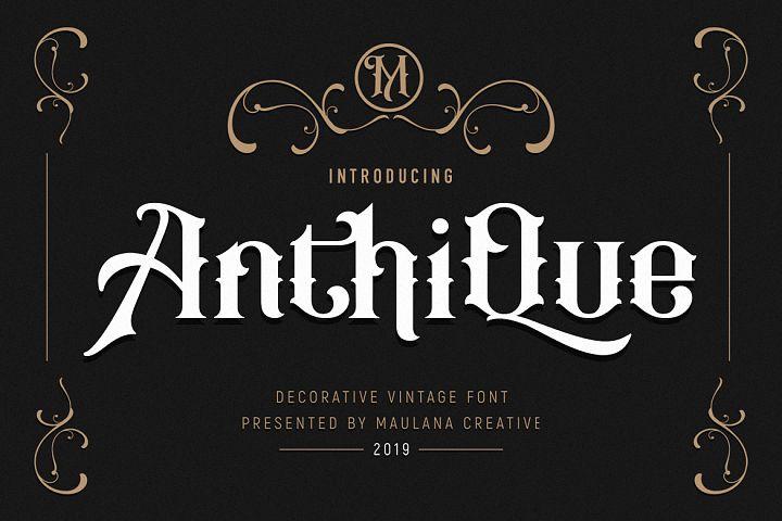 Anthique - Vintage Typeface