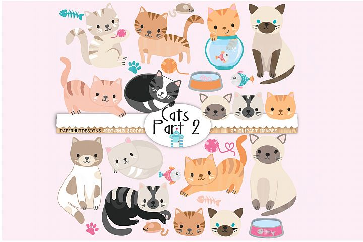 Cute Cats Clipart Part 2