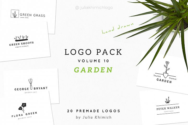 Logo Pack Volume 10. Garden