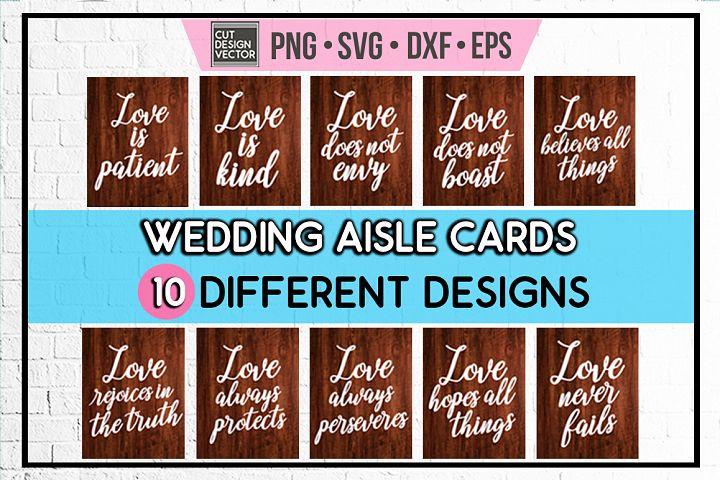 Wedding Aisle Cards BUNDLE