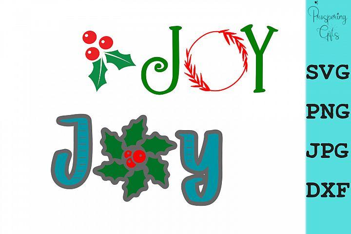 Christmas Joy Card Making SVG PNG JPG DXF